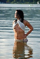 sexy woman in lake