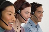Phone operators using headsets
