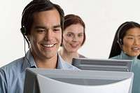 Phone operators using headsets