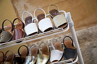 Traditional leather sandals, Ciutadella. Minorca, Balearic Islands, Spain