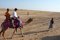 Camel safari, Jaisalmer, India
