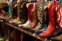 Cowboy boots, Santa Fe, New Mexico, USA. Cowboy boots