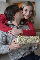 Couple in love, Christmas
