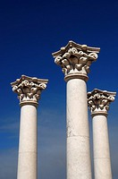 Three greek pillars