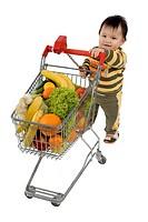 Baby im Supermarkt