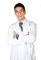 male doctor over white
