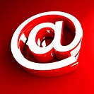 fine image of red email symbol