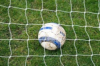 Football under net