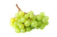Isolated yellow grape cluster