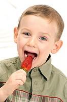 CHILD EATING FRUIT Model.