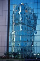 Reflection on glass of Bandra Kurla Complex , Bombay Mumbai , Maharashtra , India