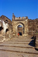 Daulatabad fort , Aurangabad , Maharashtra , India