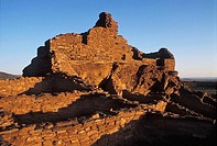 Wupatki Pueblo ruin, dawn, Wupatki National Monument, Arizona, USA