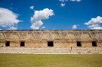 Nunnery Quadrangle, Pre-Columbian mayan ruins of Uxmal. Yucatan, Mexico