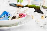 Festive spring themed place setting