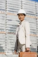 Businesswoman on dock