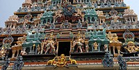 Entrance to Chettiar Hindu Temple in Singapore