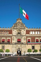 Palacio Nacional, Presidential Palace, Zocalo, Plaza de la Constitucion, Mexico City, Mexico