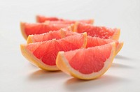 Wedges of pink grapefruit