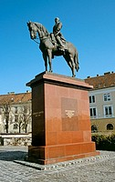 Gorgey Artur 1818 to 1916 statue, Castle Hill District, Budapest, Hungary