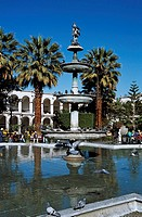 Tuturutu Fountain, Plaza de Armas, Arequipa, Peru