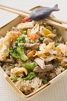 Egg fried rice with pork to take away