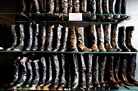 Cowboy boots displayed in a store
