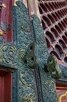 China, Beijing, The Forbidden City, Hall of Supreme Harmony, door