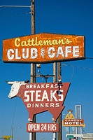 USA, Texas, Amarillo, Route 66, Restaurant signs