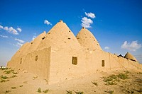 Turkey, Eastern Turkey, Harran, Traditional mud brick Beehive houses