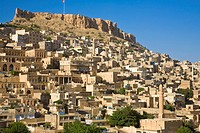 Turkey, Eastern Turkey, Mardin, Castle above old city
