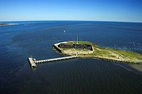 Aerial view of Fort Sumter, Mount Pleasant, South Carolina