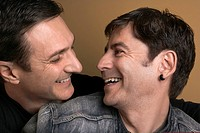 Portrait of homosexual couple