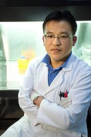 Asian scientist in a laboratory