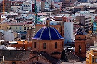 Spain, Valencia, roofs and cupolas