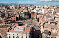 Spain, Valencia, Plaza de la Virgen, general view