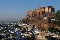 India, Rajasthan, Jodhpur, the blue city, Mehrangarh fortress