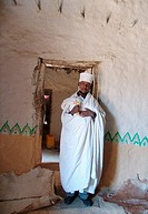 ETHIOPIA  Debre Damo monastery  Tigray   A monk, Abba Gebre Egziaber 30 who has lived at Debre Damo for 21 years