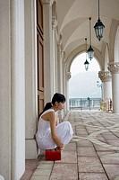 Chinese woman at the Venetian Macao-Resort-Hotel, China