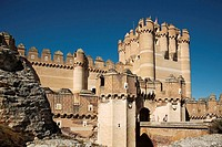 Castle keep (15th century), Coca. Segovia province, Castilla-Leon, Spain