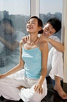 Young Couple massage