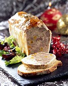 Orange and apricot duck terrine