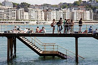 Footbridge, San Sebastian, Guipuzcoa, Basque Country, Spain