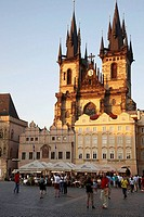 Tyn church in Staromestske Namesti (Old Town Square), Prague, Czech Republic