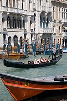 Gondolas on the Grand Canal, Venice, Veneto, Italy, Europe