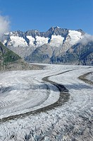 Great Aletsch Glacier, the heart of the UNESCO World Heritage Site Jungfrau_Aletsch_Bietschhorn, Goms, Wallis, Switzerland, Europe