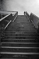 Stairs over M40 beltway, Madrid, Spain