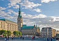 Hamburg City Hall and main square, Hamburg, Germany, Europe