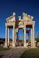 Tetrapylon, ruins of Aphrodisias. Turkey