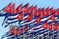 Mount of Flags, 138 Cuban flags in front of the United States Interests Section in Havana, Cuba